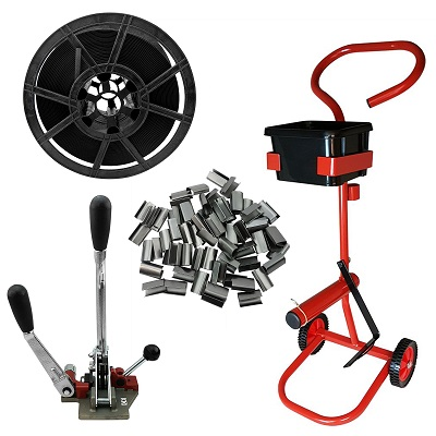 Combination Medium Duty Strapping Kit with Trolley 12mm Strapping
